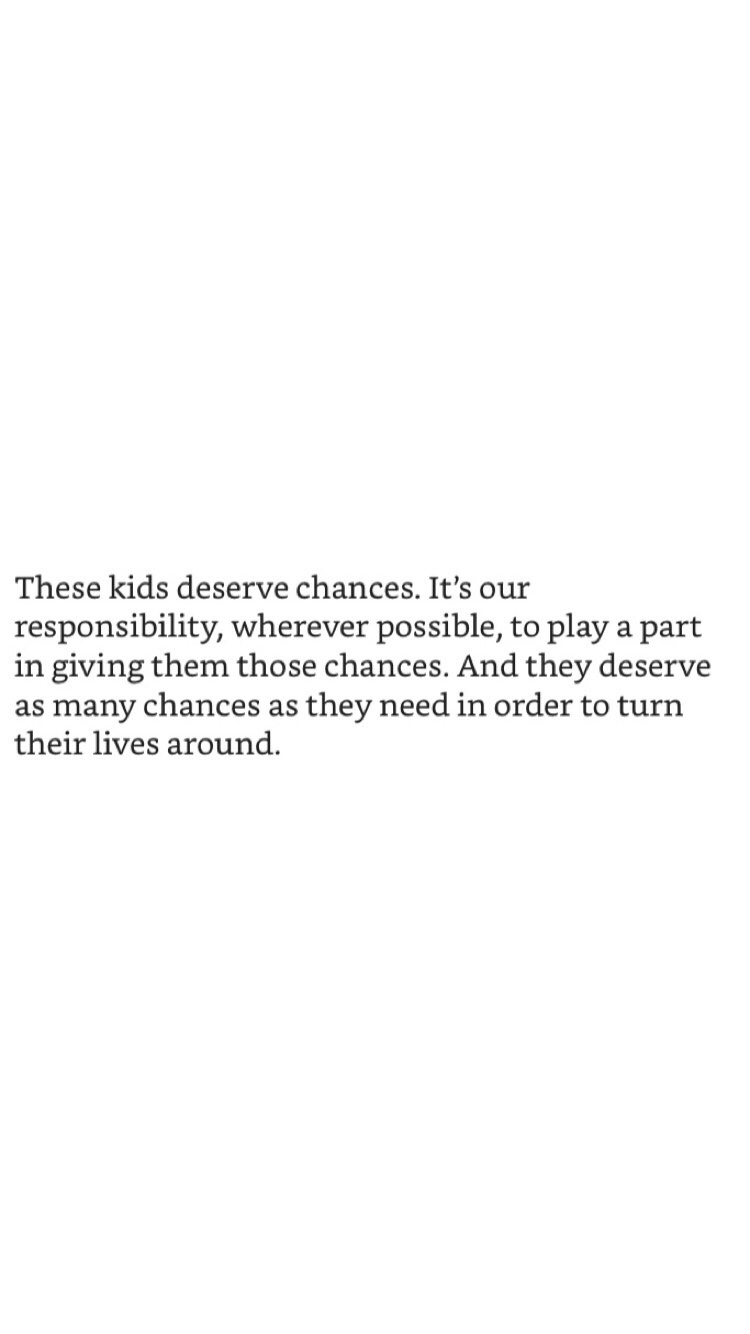 EVERY KID DESERVES A CHANCE